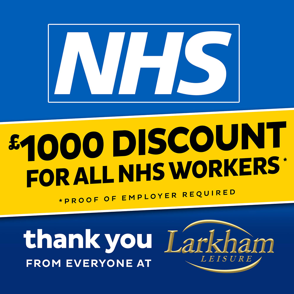 NHS Discount for all NHS Workers. Proof of employer required. Thank you from everyone at Larkham Leisure