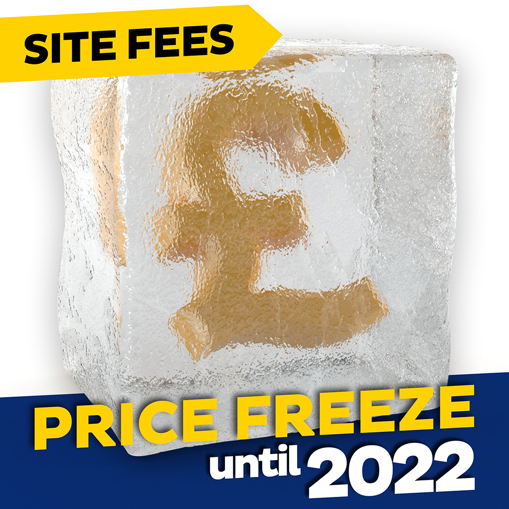 Site Fees - Price Freeze until 2022