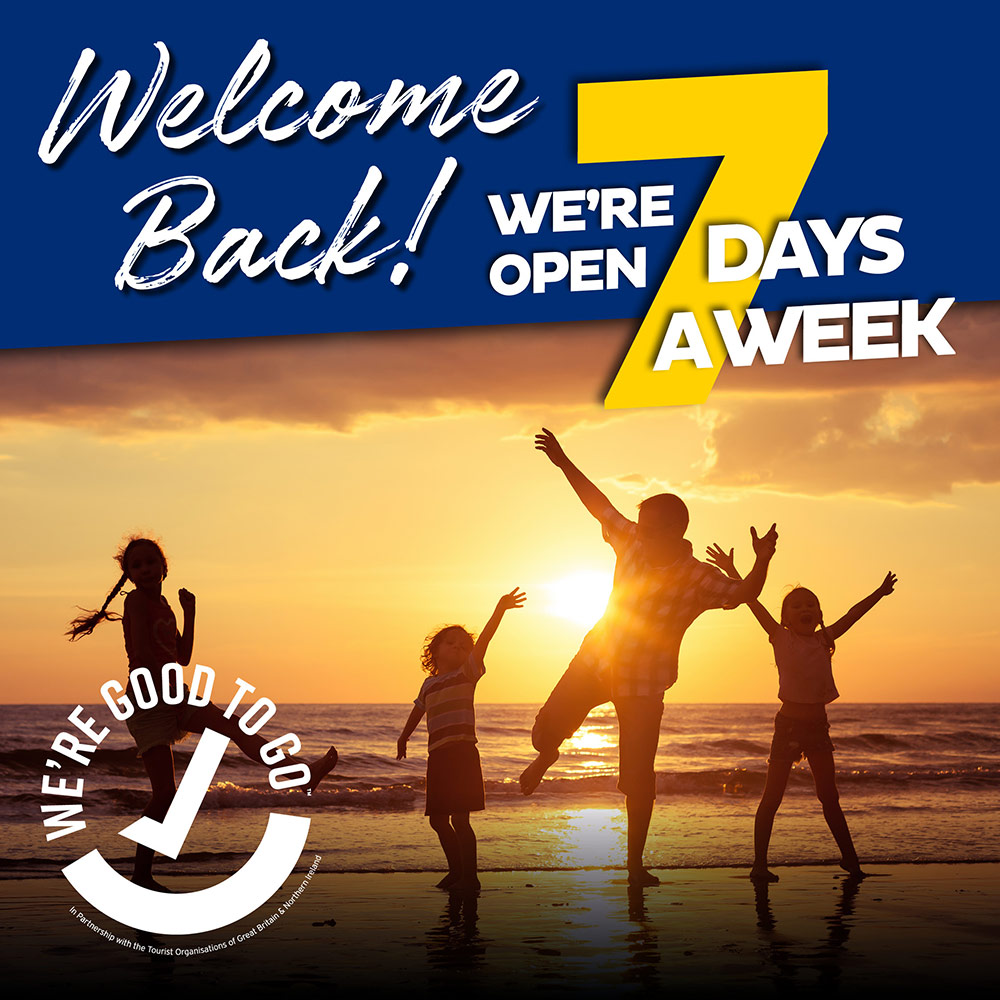 Welcome Back! We're open 7 days a week